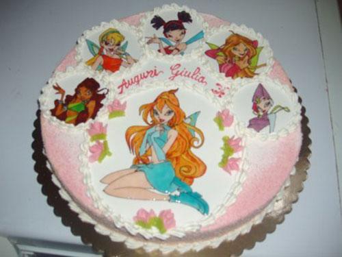 disegno torta winx
