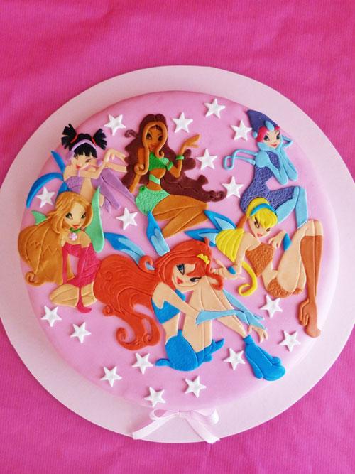 Foto della torta delle Winx n. 25