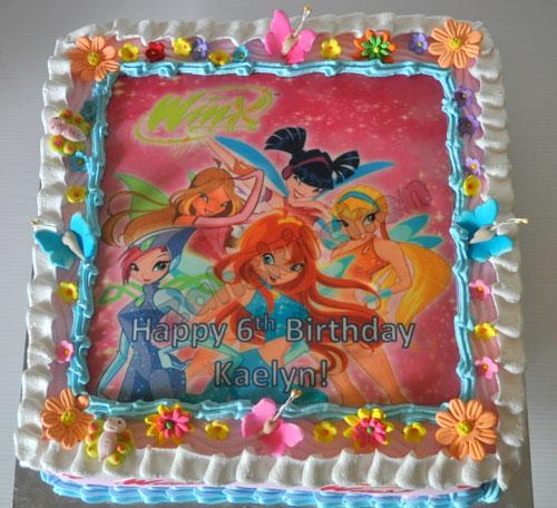 Foto della torta delle Winx n. 30