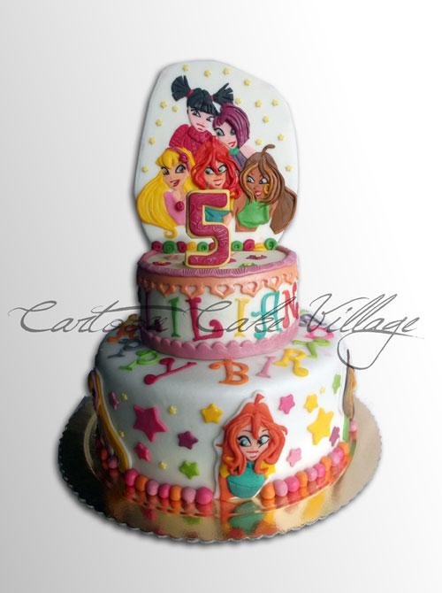 Foto della torta delle Winx n. 37