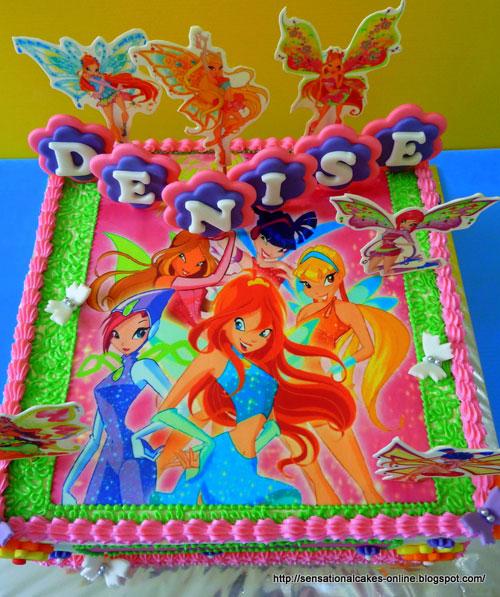 Foto della torta delle Winx n. 64