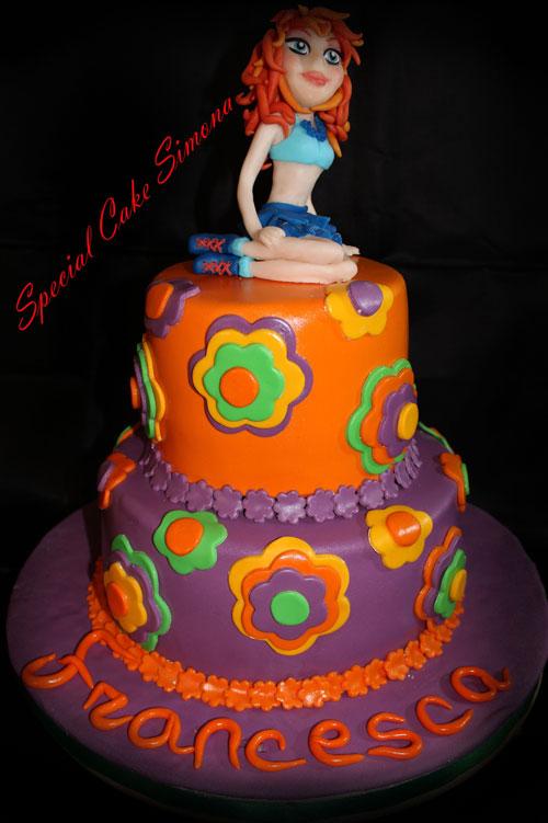 Foto della torta delle Winx n. 70