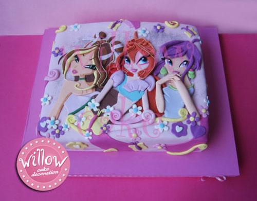 Foto della torta delle Winx n. 78