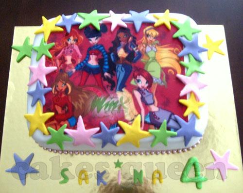Foto della torta delle Winx n. 98