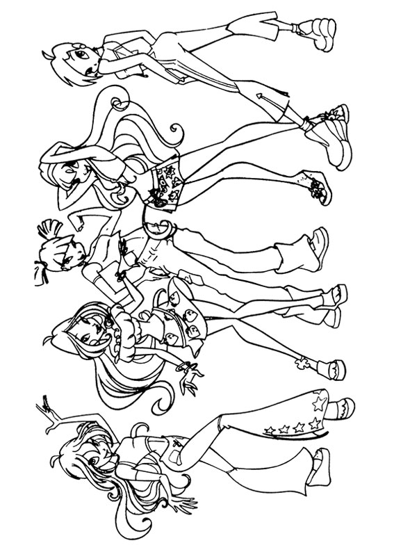 130 Disegni Delle Winx Club Da Colorare Pianetabambiniit