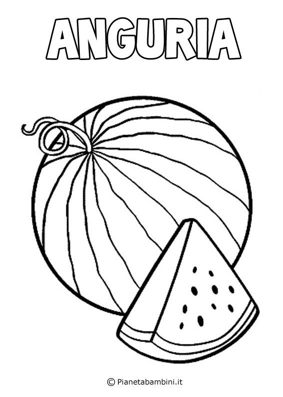 disegni da colorare estate frutta