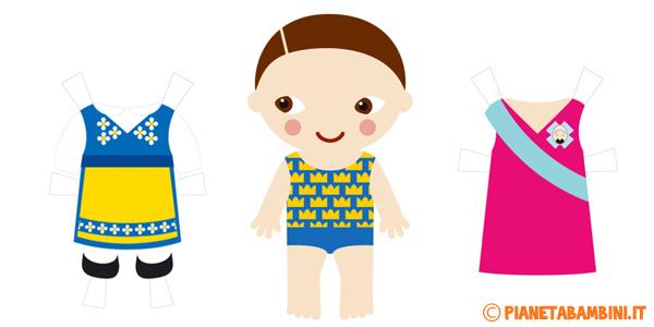 Bambole di carta da ritagliare e vestire