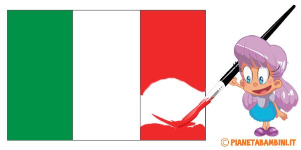 Bandiera italiana da colorare in svariate dimensioni