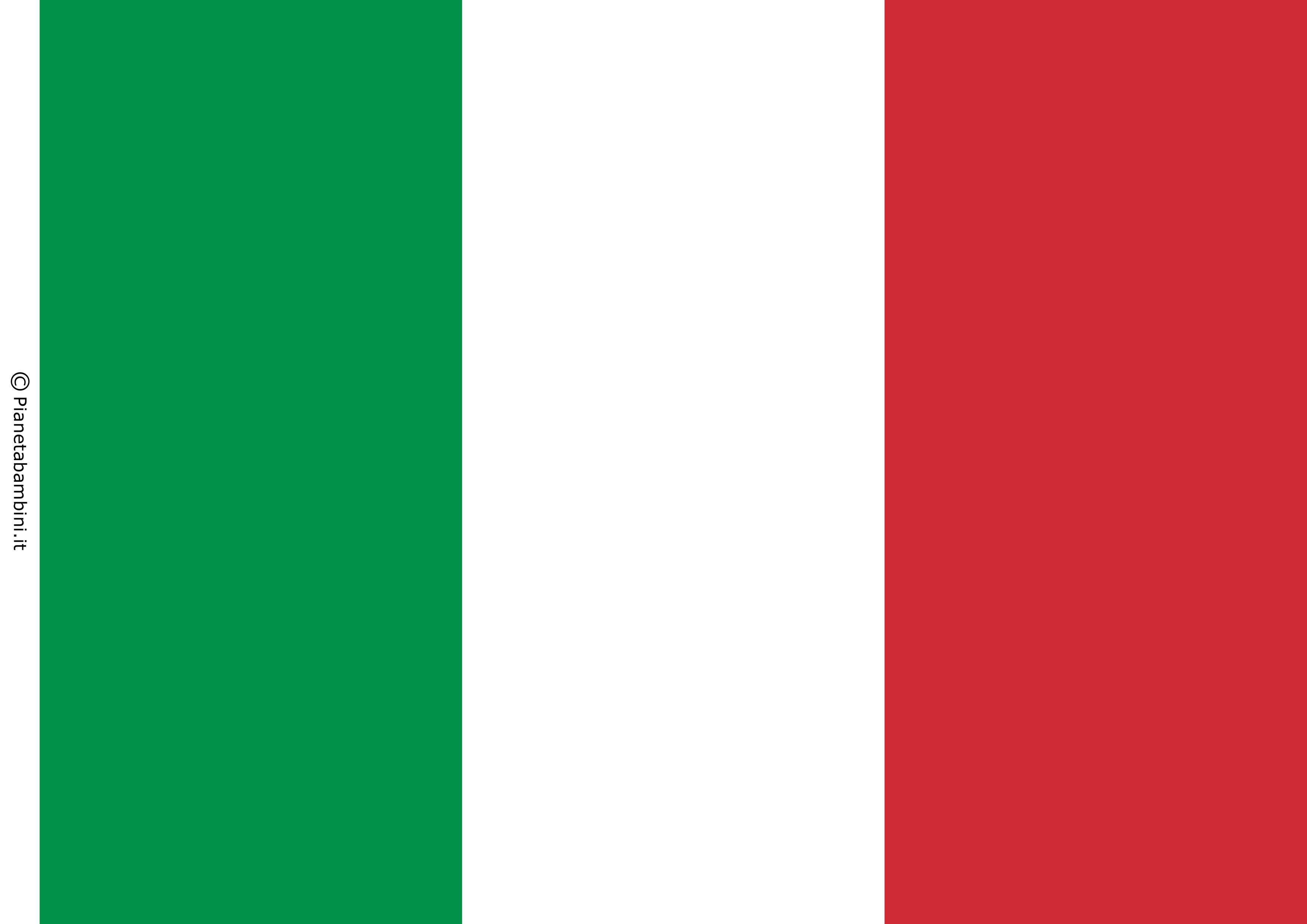 Bandiera Italiana Da Stampare E Ritagliare In Pi 249