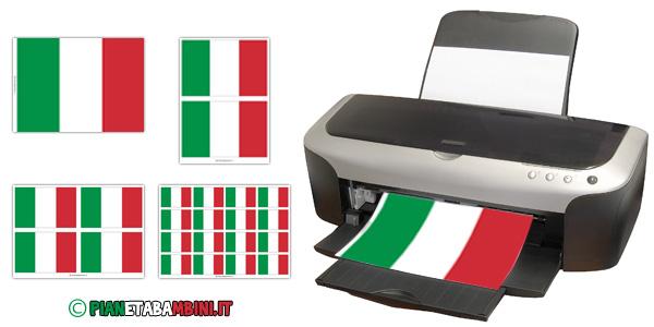 Bandiera italiana da stampare gratis