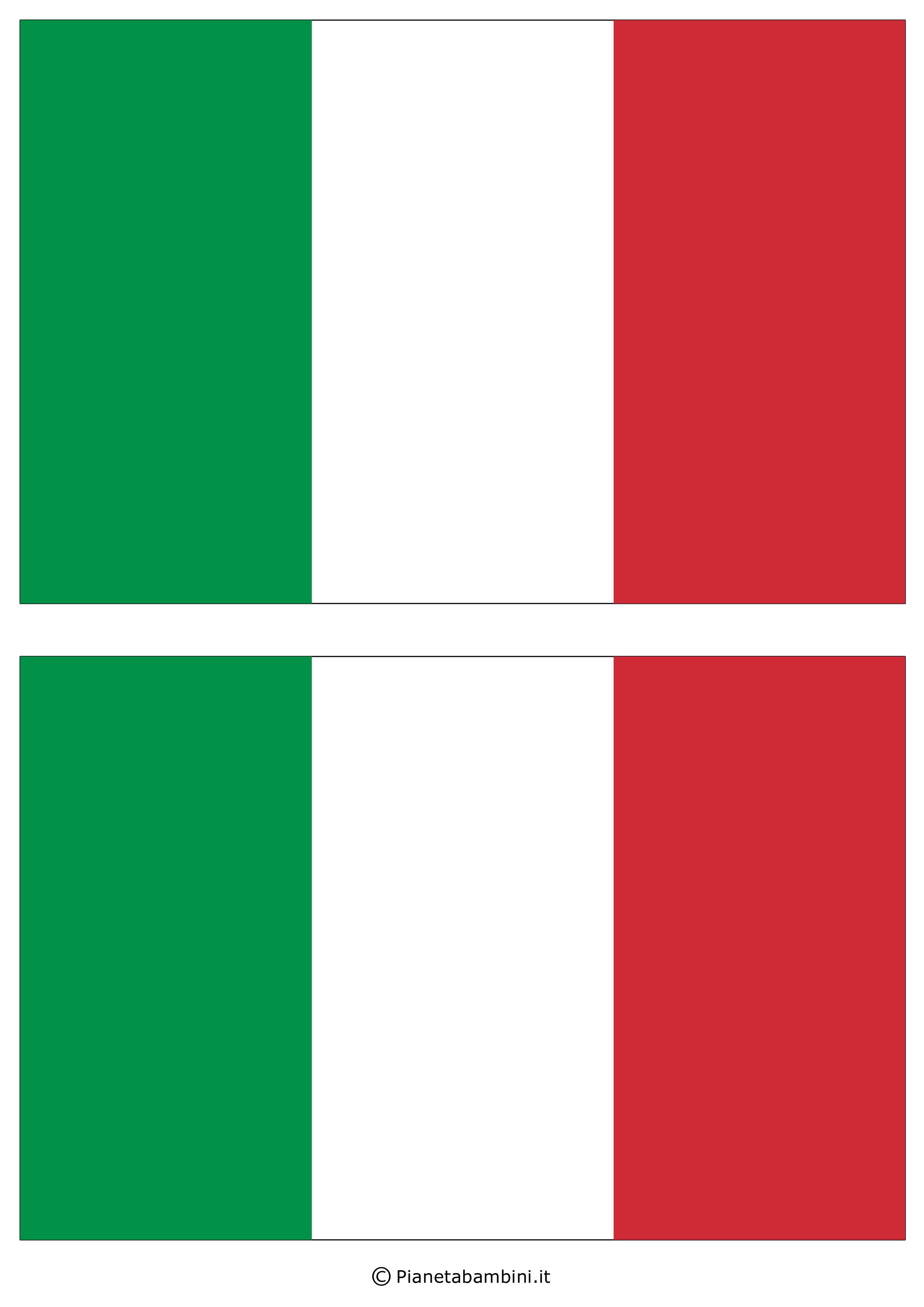 Bandiera Italiana da Stampare e Ritagliare in Più ...