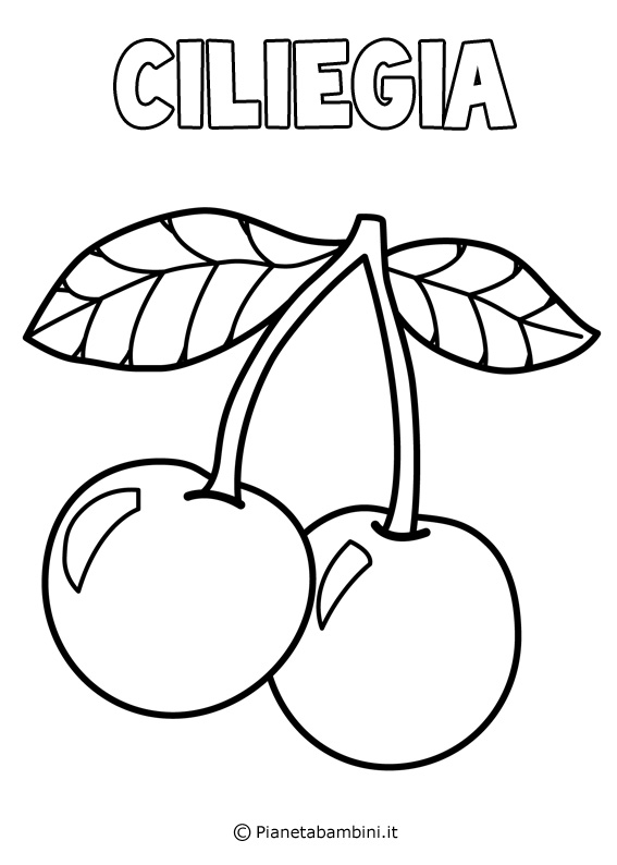 Disegni di frutta da stampare e colorare - Immagini da colorare della natura ...