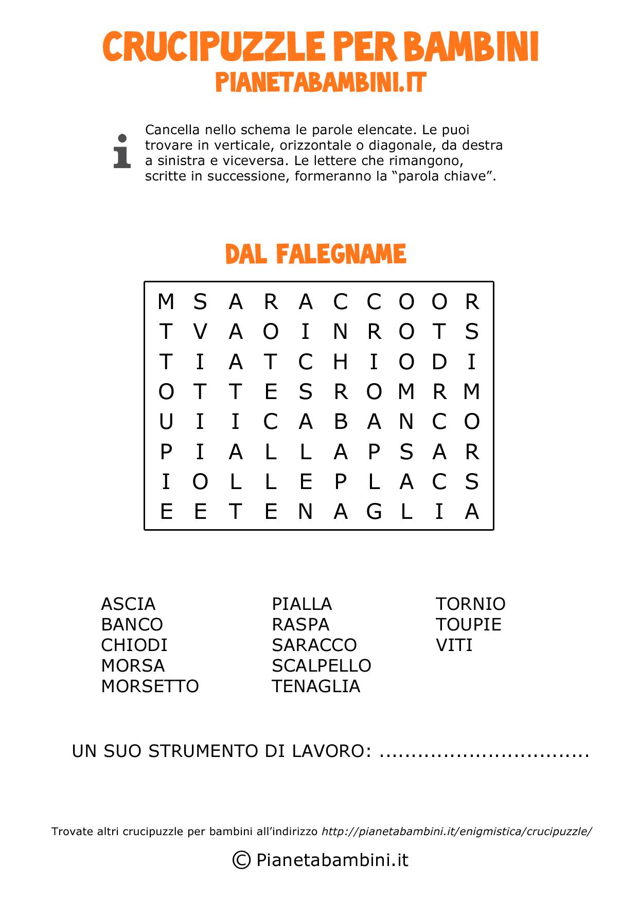 Crucipuzzle-Falegname