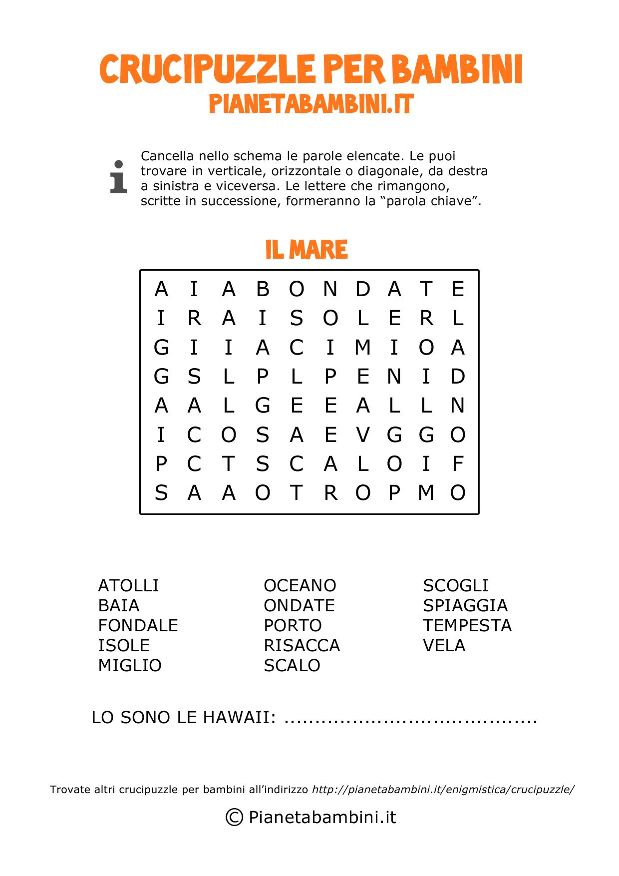 Crucipuzzle-Mare