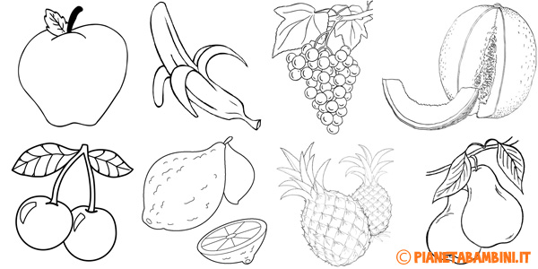 Disegni di frutta da stampare