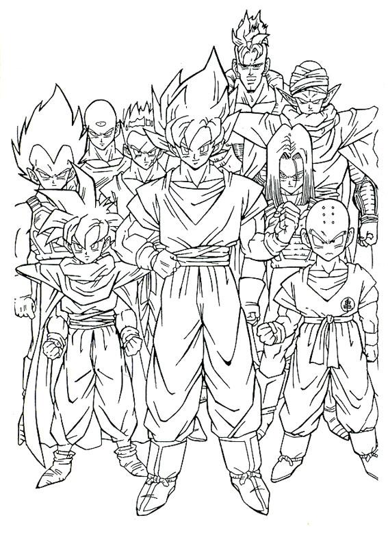 80 Disegni Di Dragon Ball Z Da Stampare E Colorare Pianetabambini It