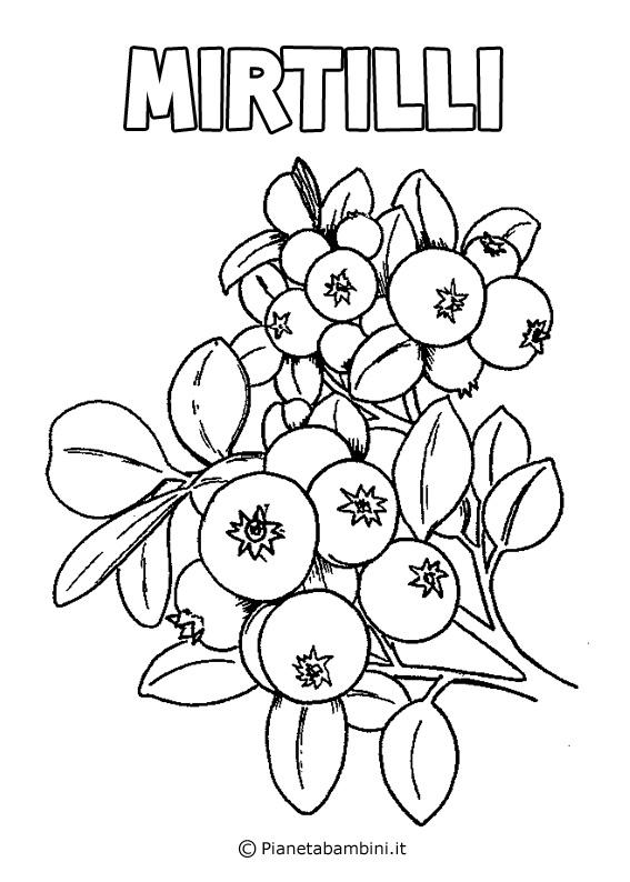 Disegni Di Mercato Della Frutta Per Bambini Da Colorare