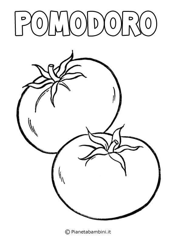 Pomodoro da colorare