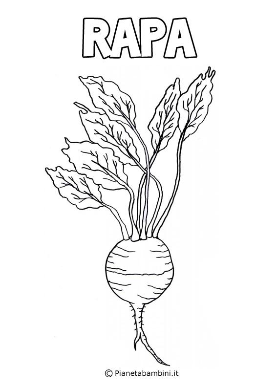 Disegni di verdure da stampare e colorare pianetabambini