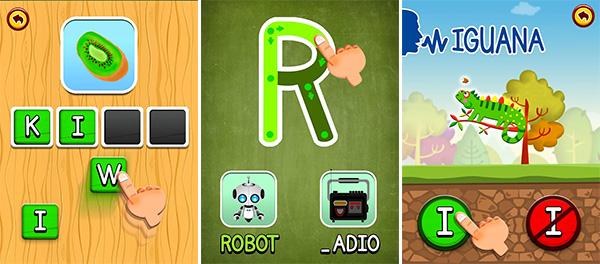 App ABC Dinos per Android per bambini