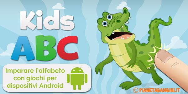 App Android per bambini sull'alfabeto