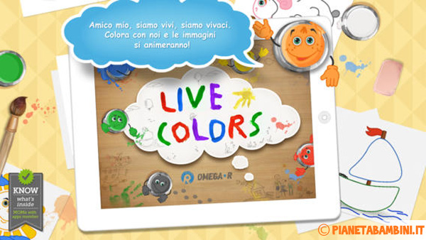 Immagine dell'app Live Colors for Kids