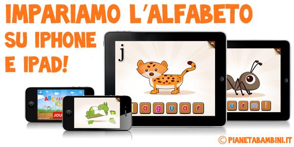 App iOS per bambini per imparare l'alfabeto