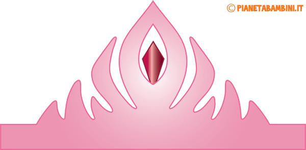 Immagine della corona di carta da principessa rosa