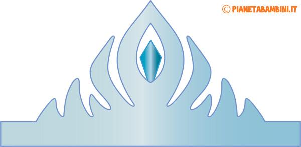 Immagine della corona di carta da principessa azzurra