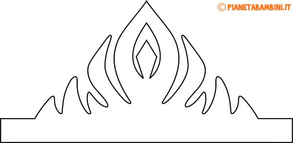 Immagine della corona di carta da principessa da colorare