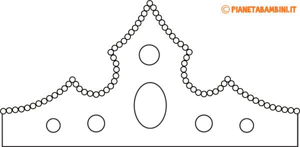 Immagine della corona di carta da colorare da principessa n.1