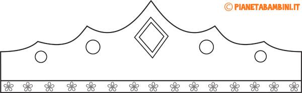 Immagine della corona di carta da principessa da colorare n.3