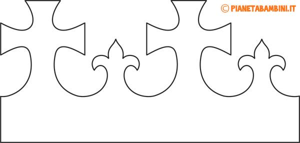 Corona di carta da Re in versione semplice da stampare e colorare