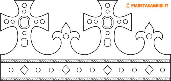 Corona di carta da Re da stampare e colorare