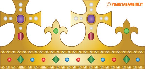 Corona di carta da Re da stampare e ritagliare