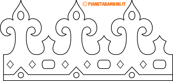 Corona di carta da regina da stampare e colorare