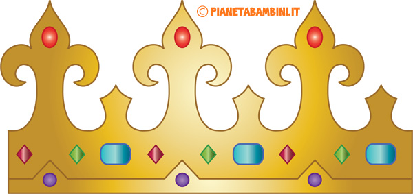 Corona di carta da Regina da stampare e ritagliare