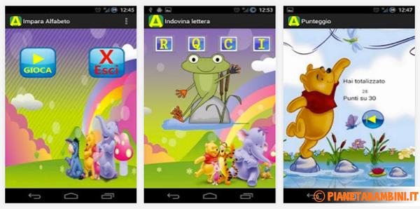 Immagine dell'app impara l'alfabeto