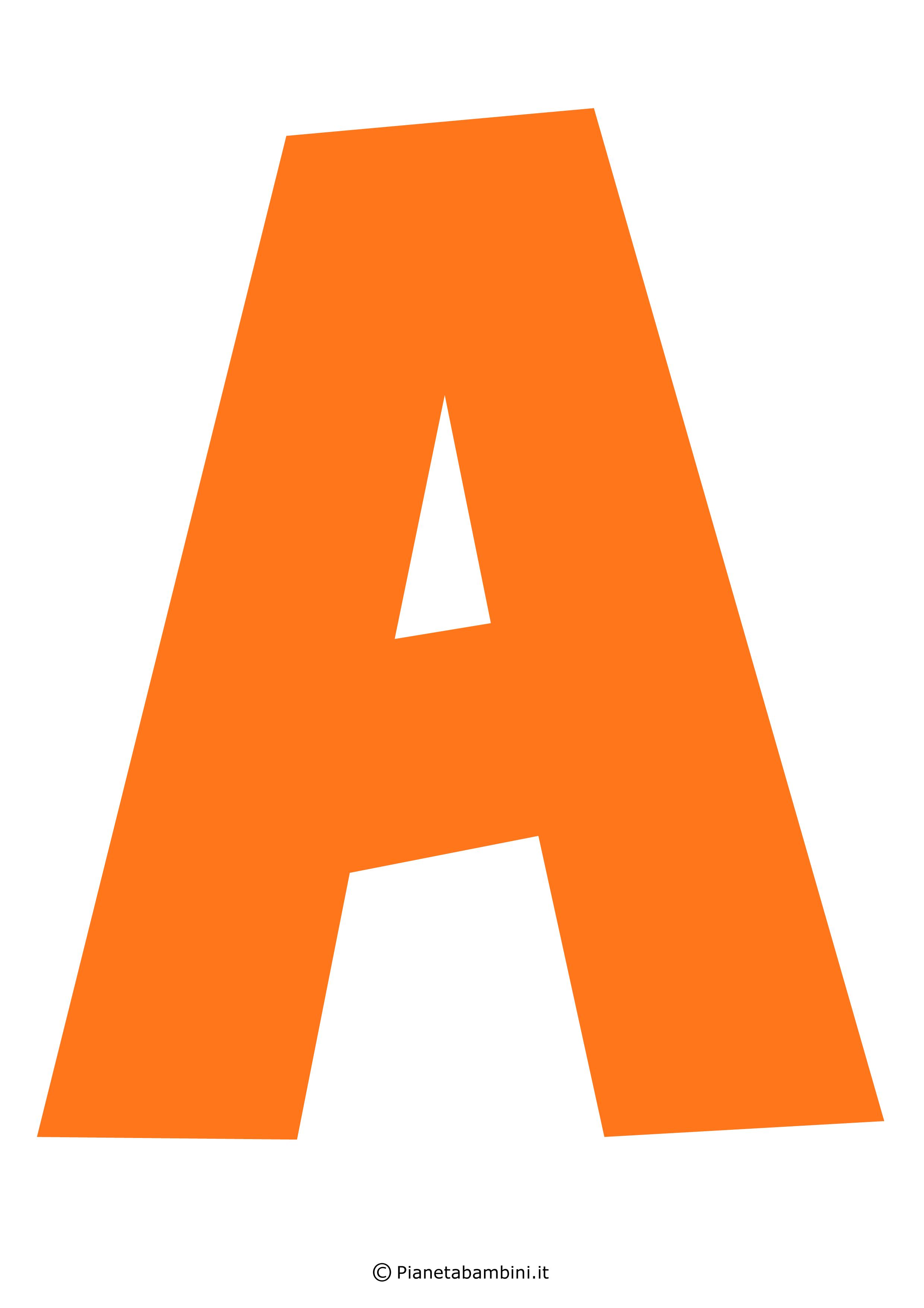 Lettera-A-Arancione