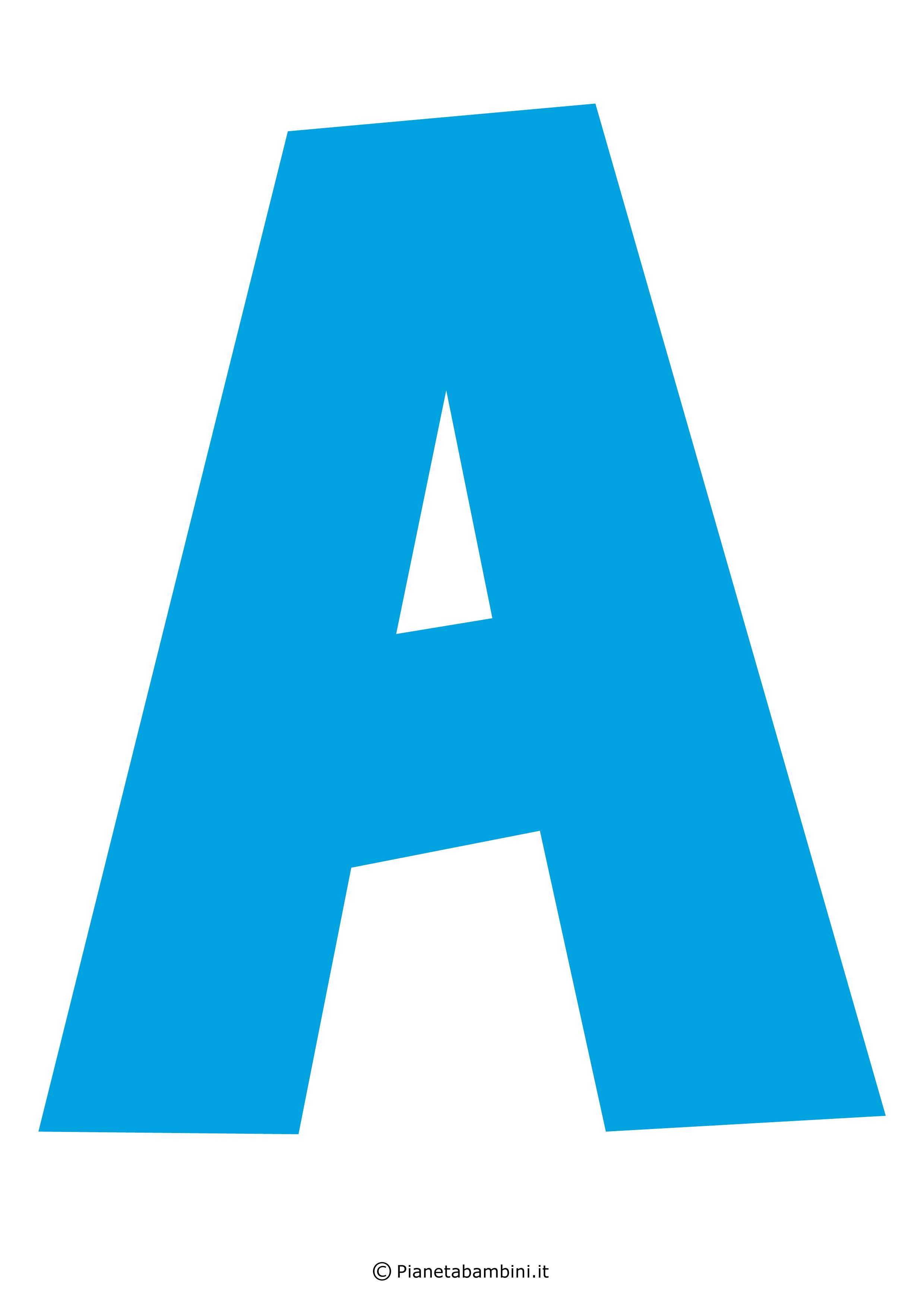 Lettere dell 39 alfabeto colorate e grandi da stampare - Lettere animali da stampare ...