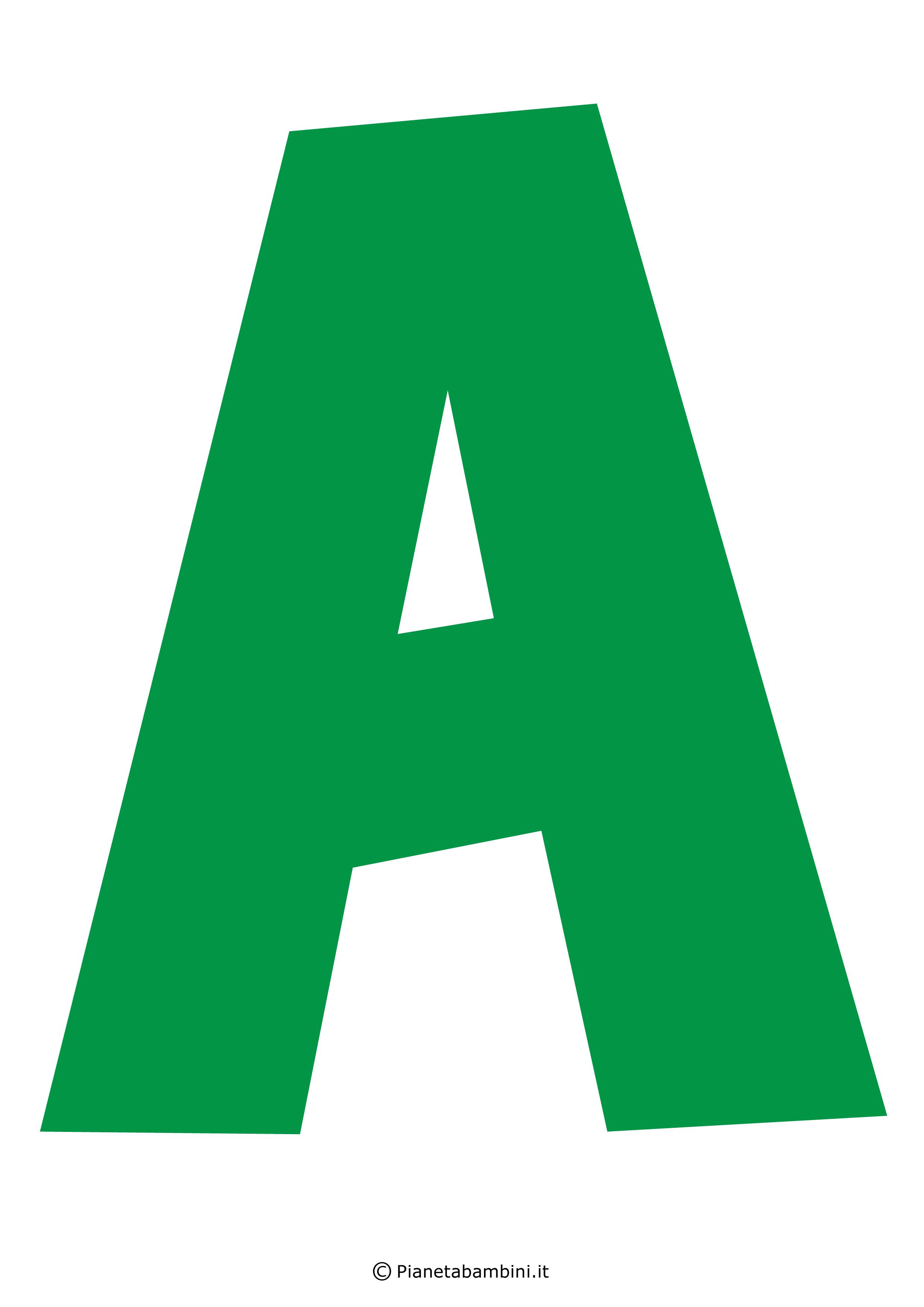 Lettera-A-Verde