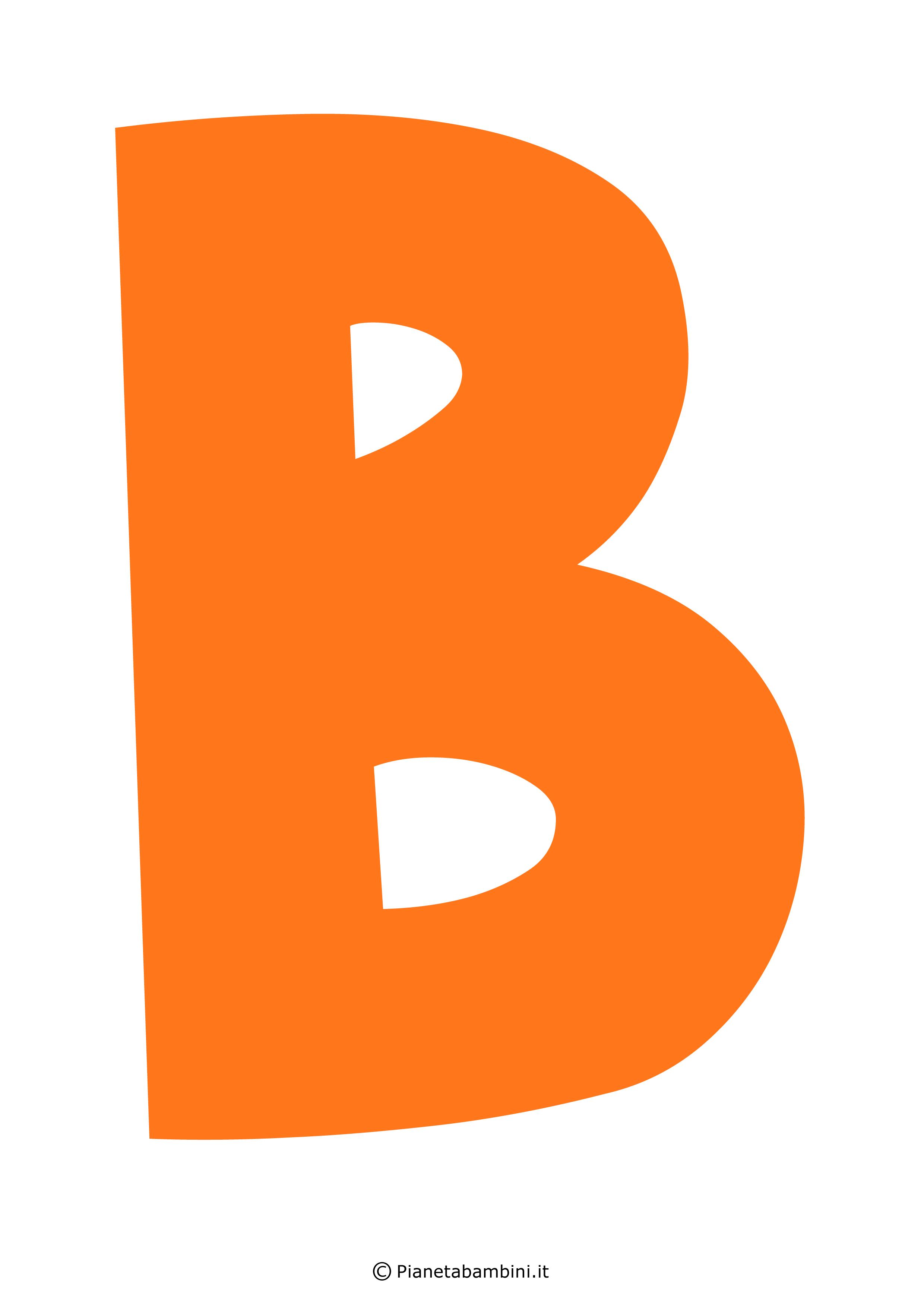 Lettera-B-Arancione