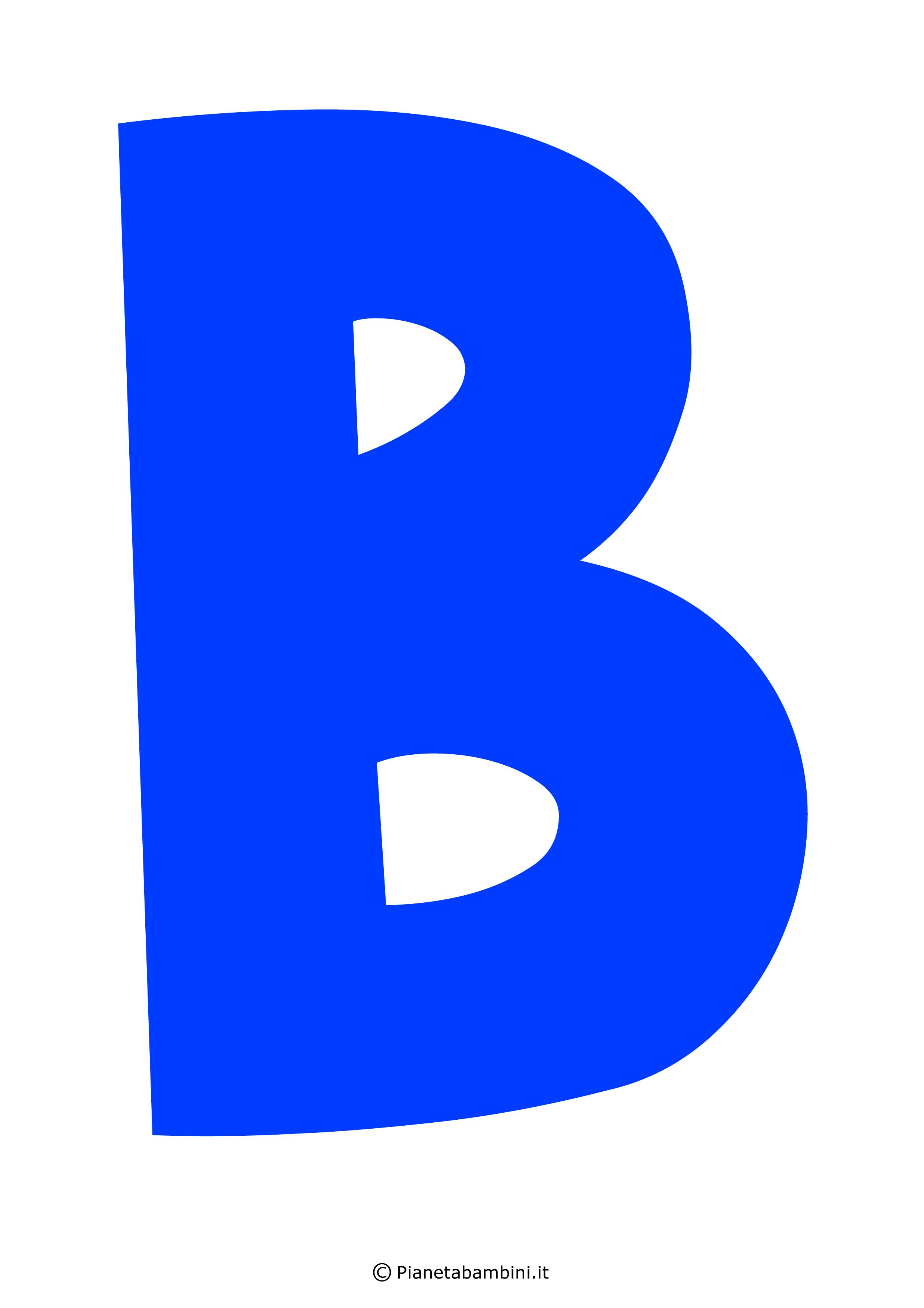 Lettera-B-Blu