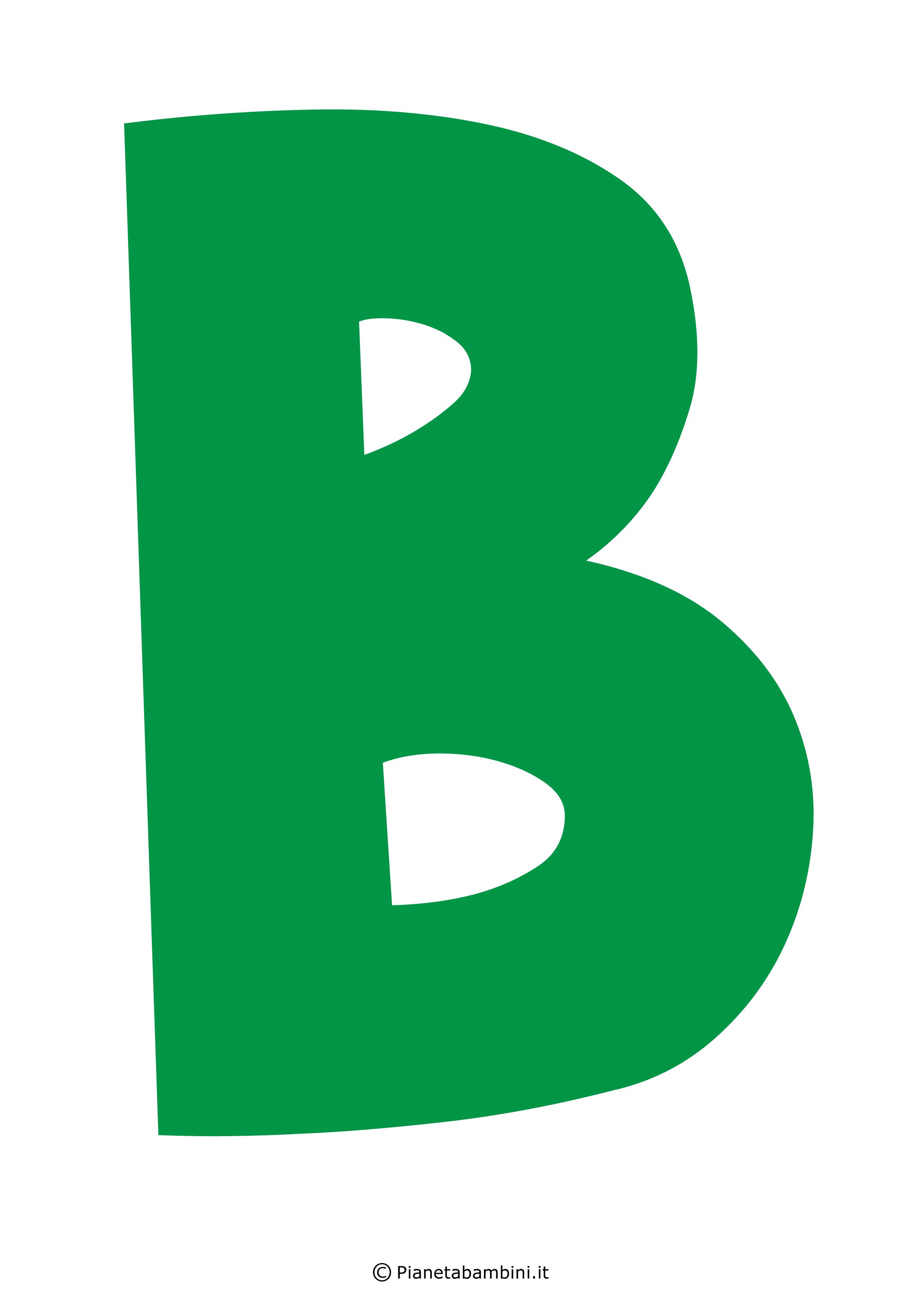 Lettera-B-Verde