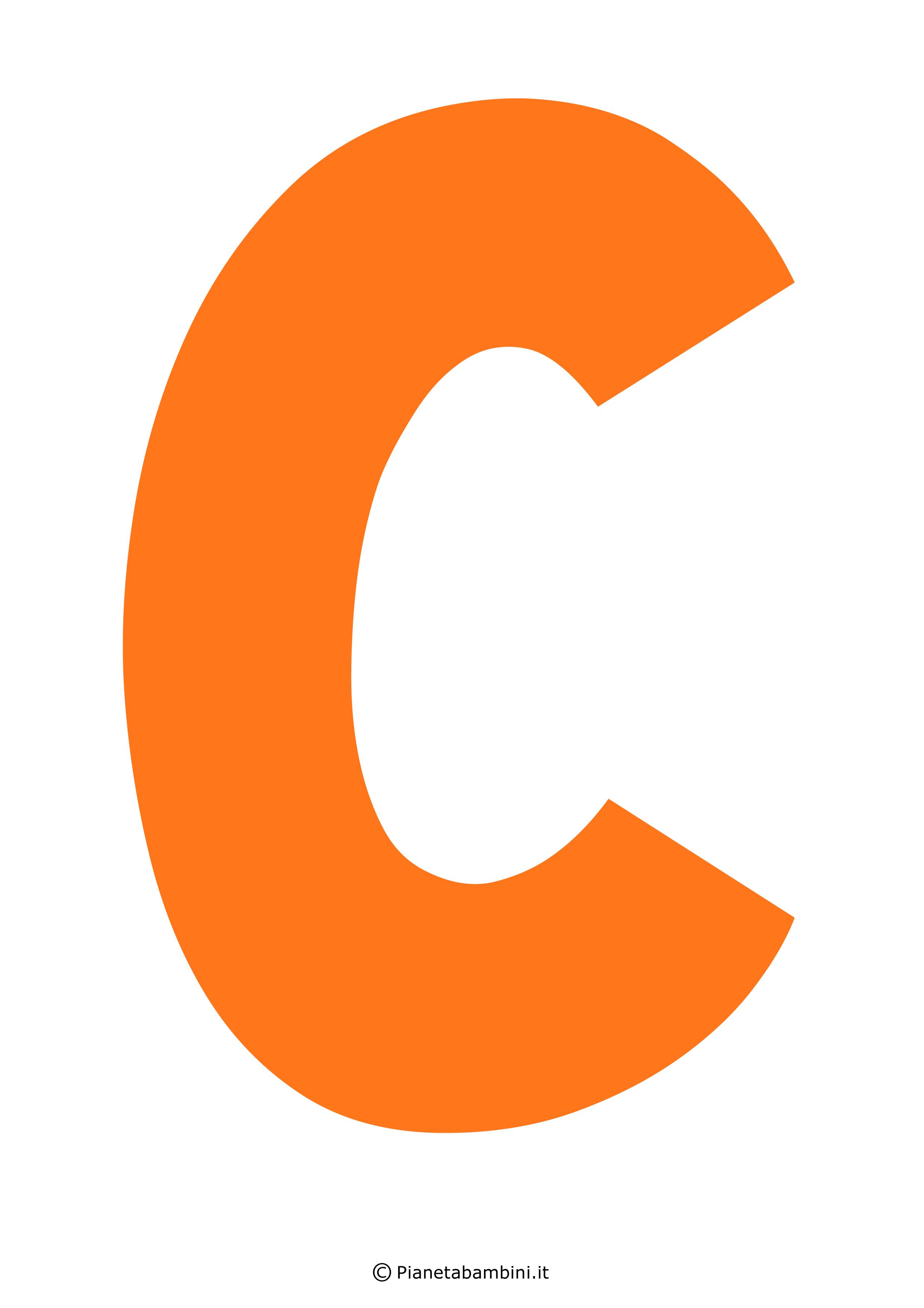 Lettera-C-Arancione