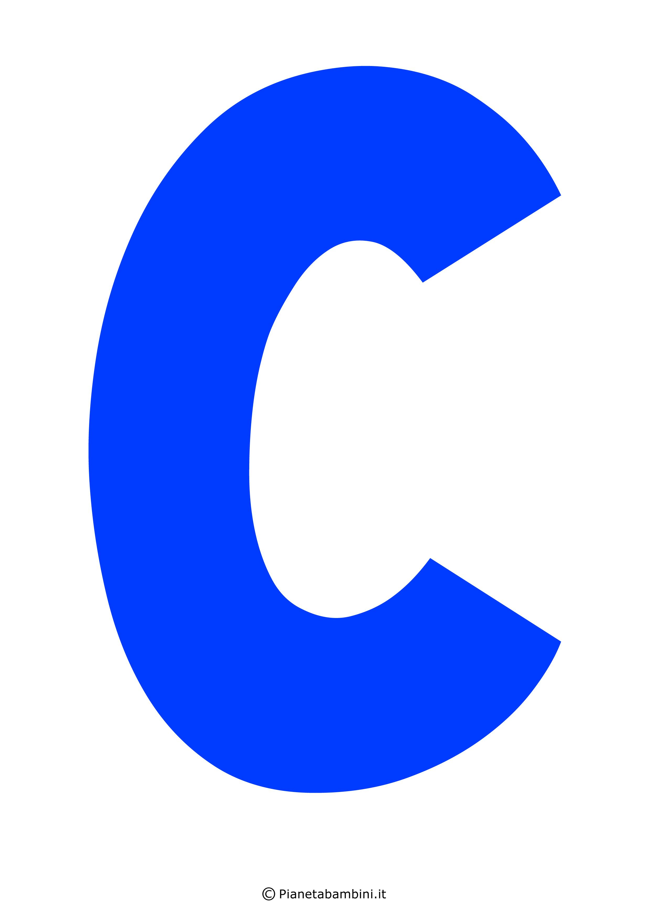 Lettera-C-Blu