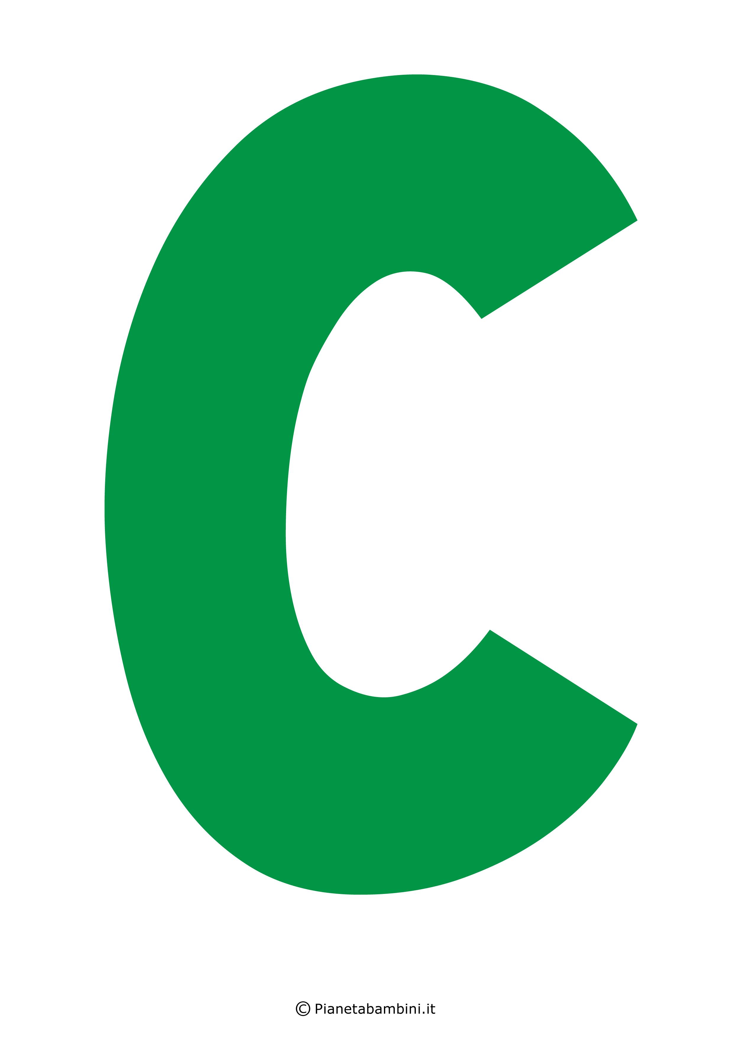 Lettera-C-Verde