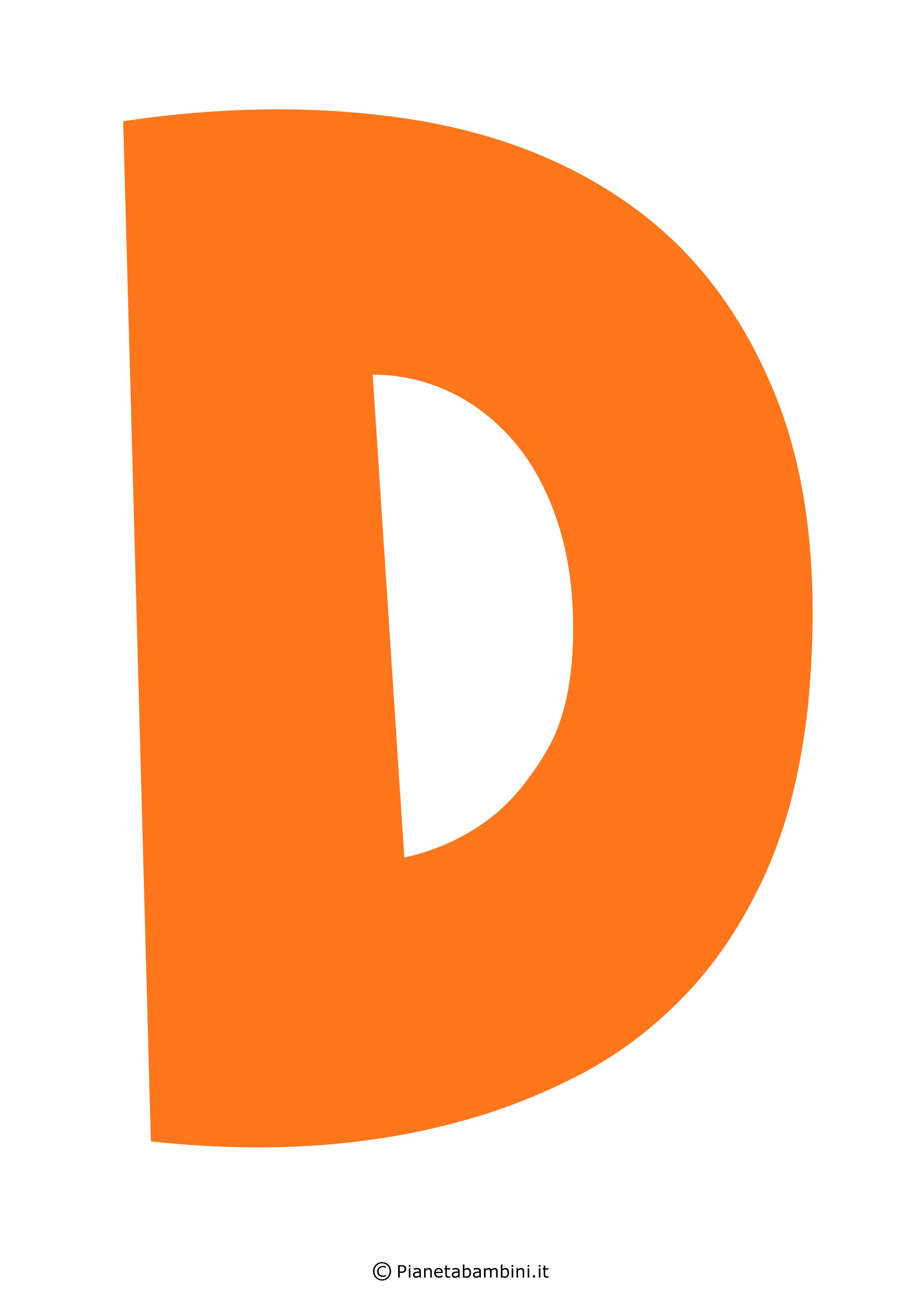 Lettera-D-Arancione