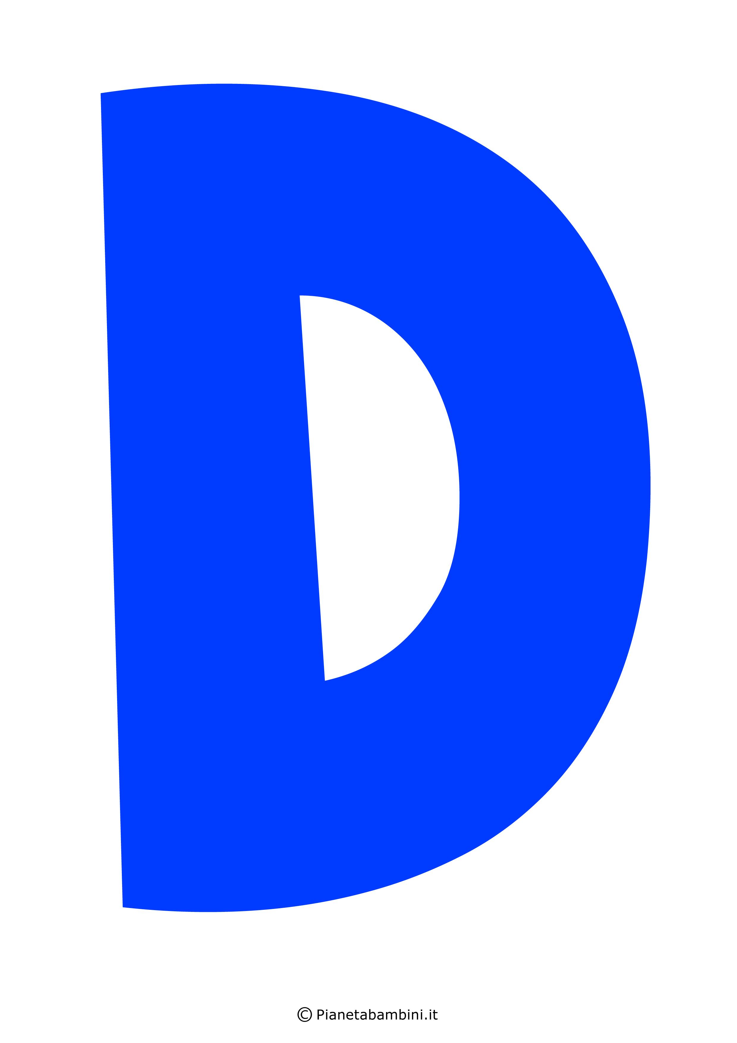 Lettera-D-Blu