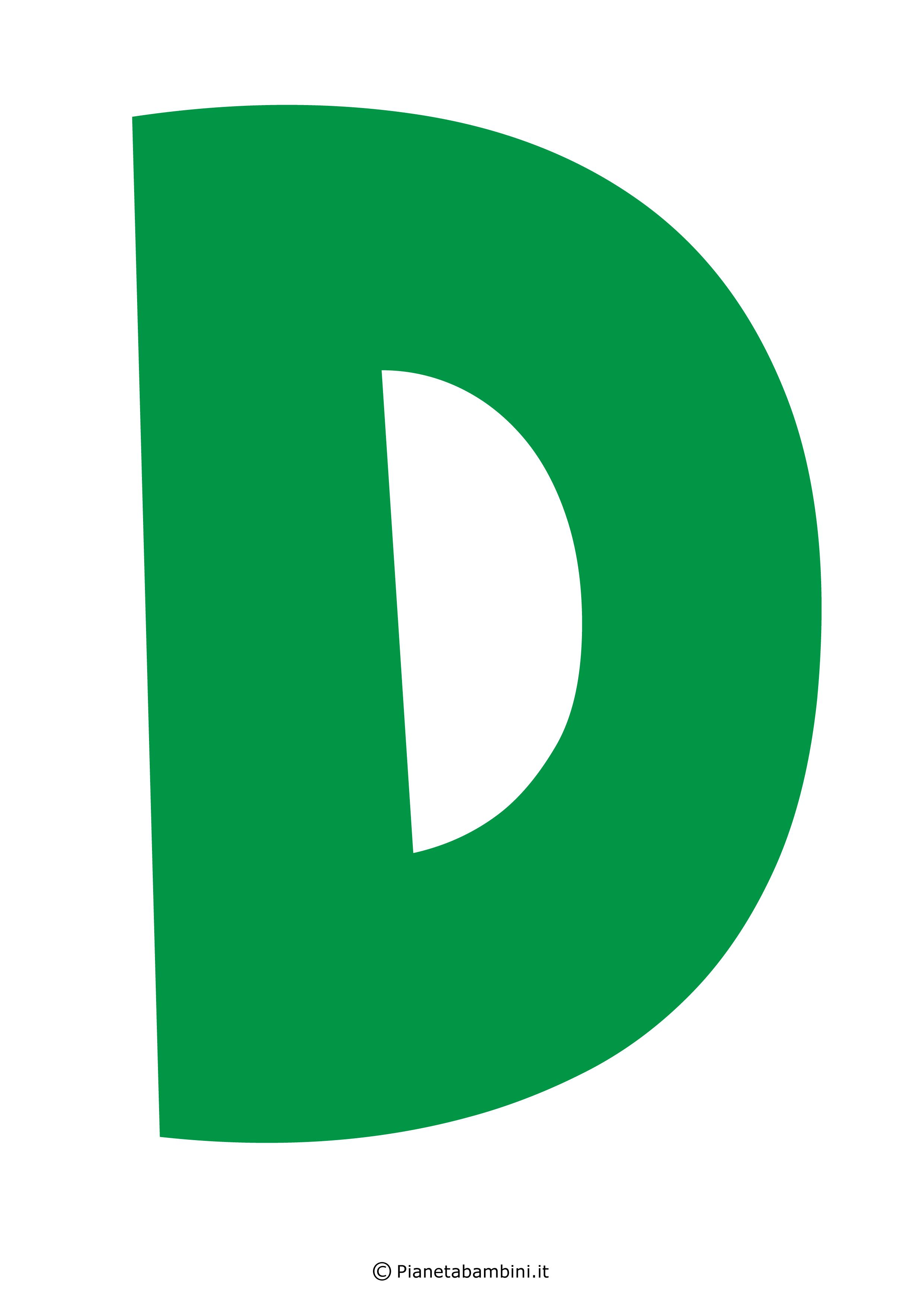 Lettera-D-Verde
